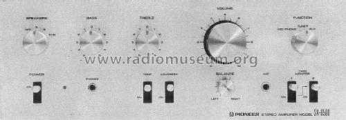 integrated stereo amplifier sa mixer pioneer corpo