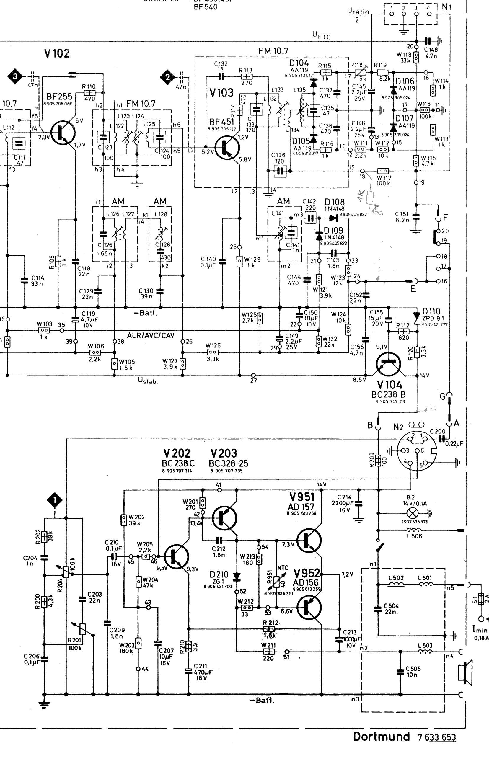 Belegung der DIN-Buchsen von alten Blaupunkt Autoradios