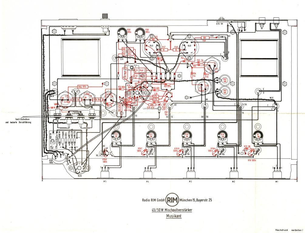 Musikant 45/50W Ampl/Mixer RIM bzw. Radio-RIM; München, buil