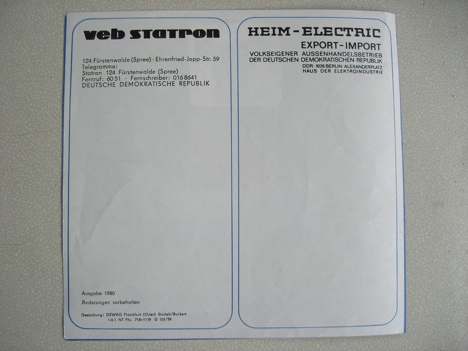 Kompakt-Box B 9251 HiFi Speaker-P Statron Fuerstenwalde, VEB