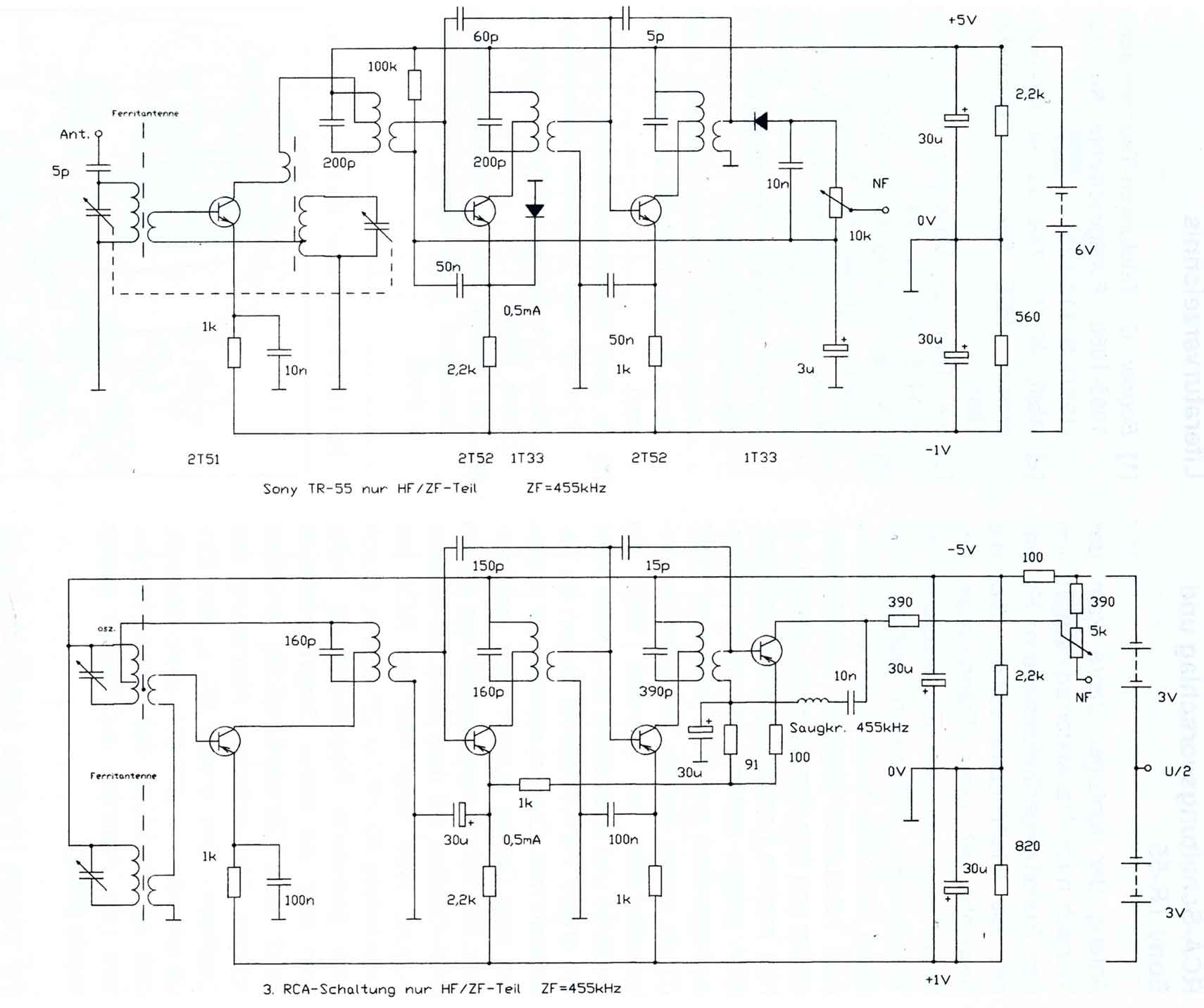 Comments On The Circuits Of First Transistor Radios Circuit Diagram