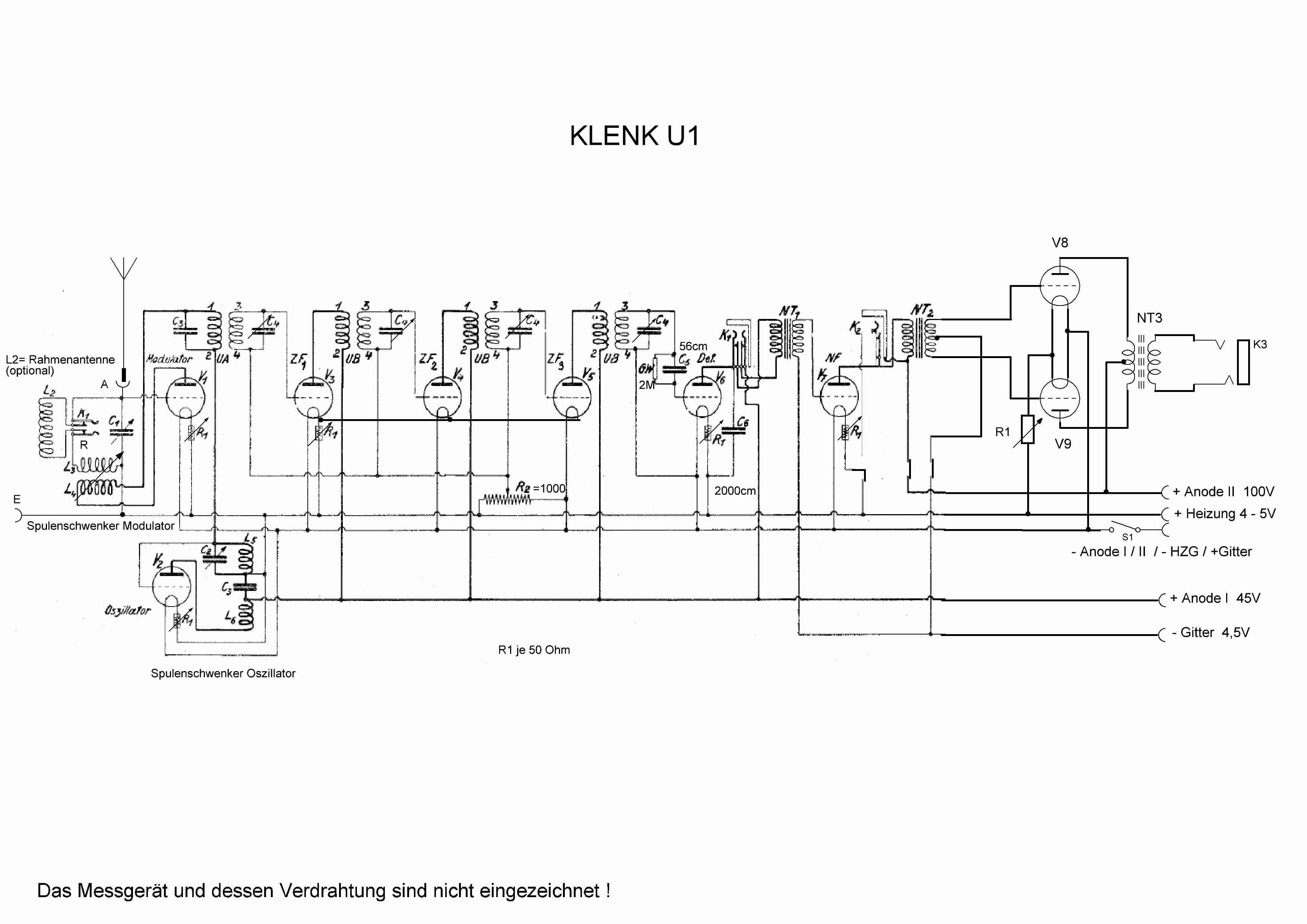 U1 Radio Klenk & Co.; Stuttgart, build 1925 ?, 10 pictures