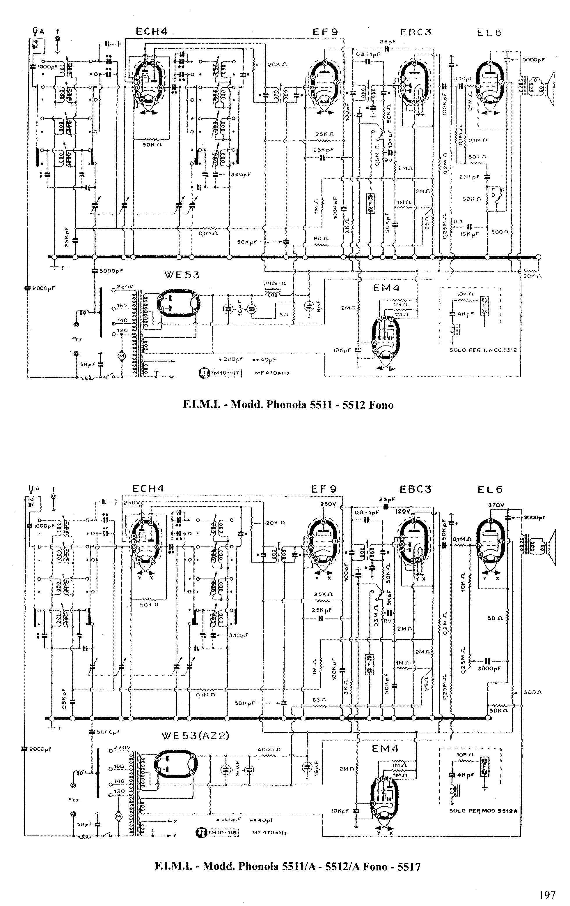 Phonola 5512 Diagram Vacuum Tube Base Diagrams