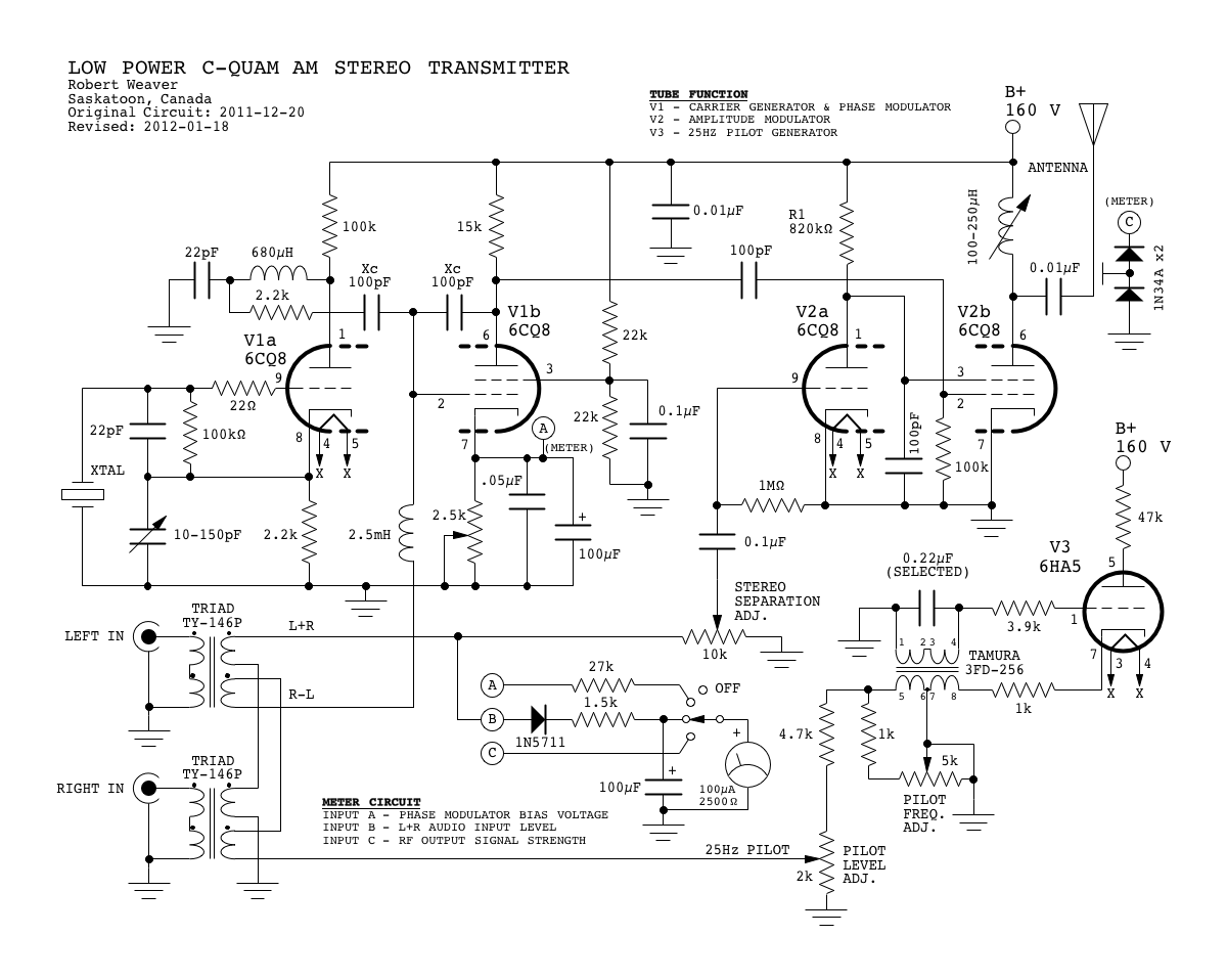 C Quam Am Stereo Transmitter Using Valves Fm Modulator Block Diagram