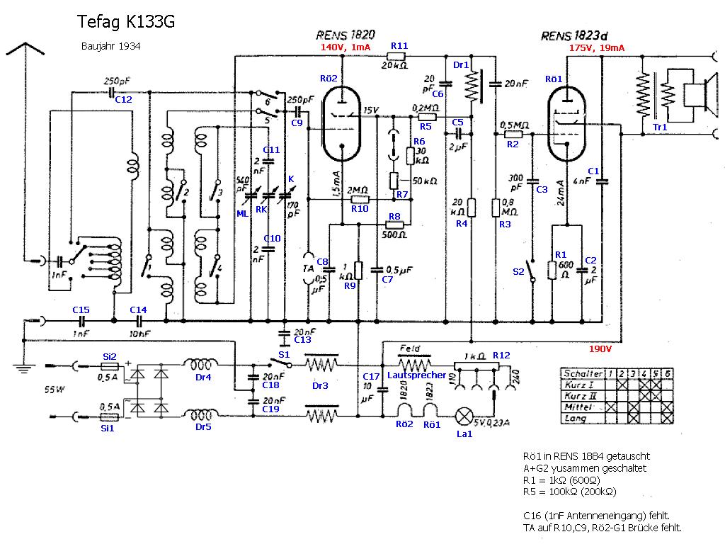 tefag: K133G verbesserter Schaltplan
