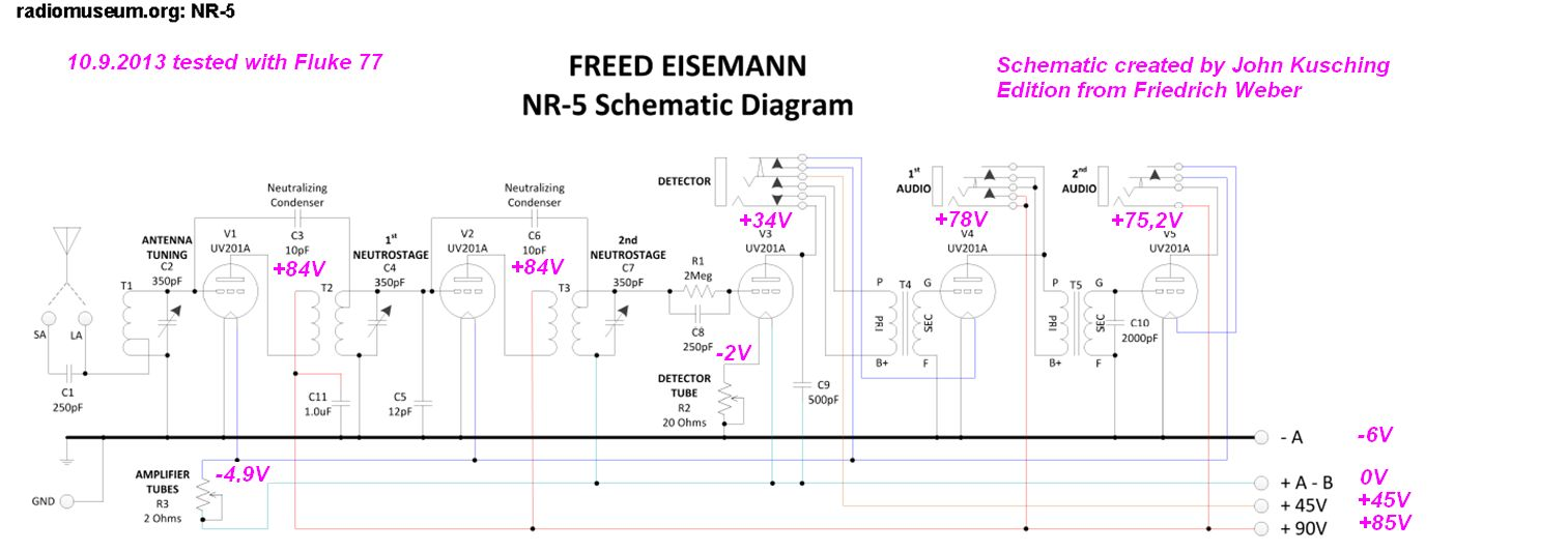 NR-5 Radio Freed-Eisemann Radio Corporation; New York, build