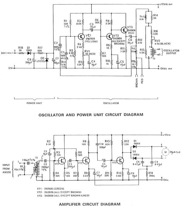 vcm , valve characteristic meter equipment avo ltd. lond, wiring diagram