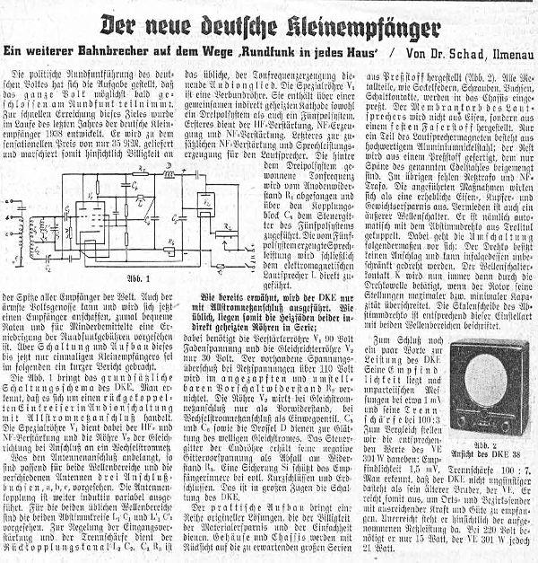 Deutscher Kleinempfänger 1938 DKE38 Radio Gemeinschaftserzeu