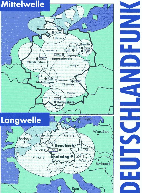 Deutschlandradio kündigt Abschalttermine für LW, MW und ...