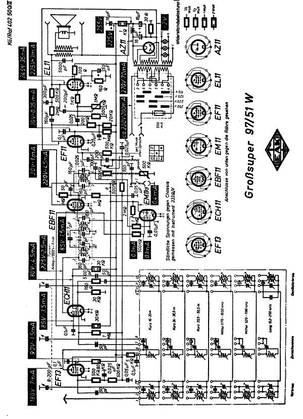 Großsuper 97/51WS Radio EAK, Elektro-Apparatefabrik Köppelsd