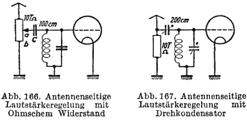 Volume Control with Potentiometre and Variable Condenser