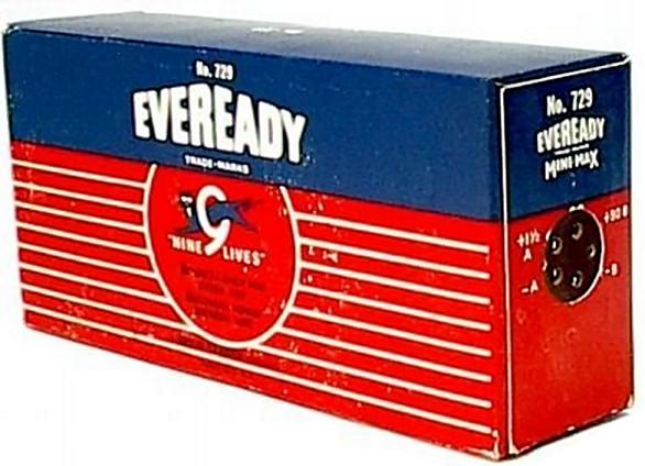 US Eveready NCC/UC 729 (1.5V & 90V)
