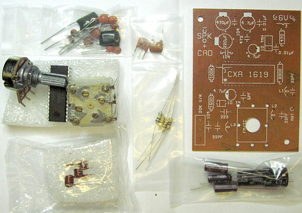 CXA1619BS FM only Kit parts.