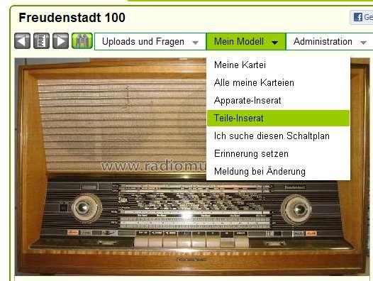Freudenstadt 100 Radio SABA; Villingen, build 1959/1960, 43