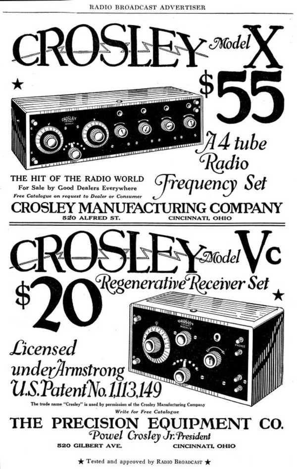 1920s radio advertisements