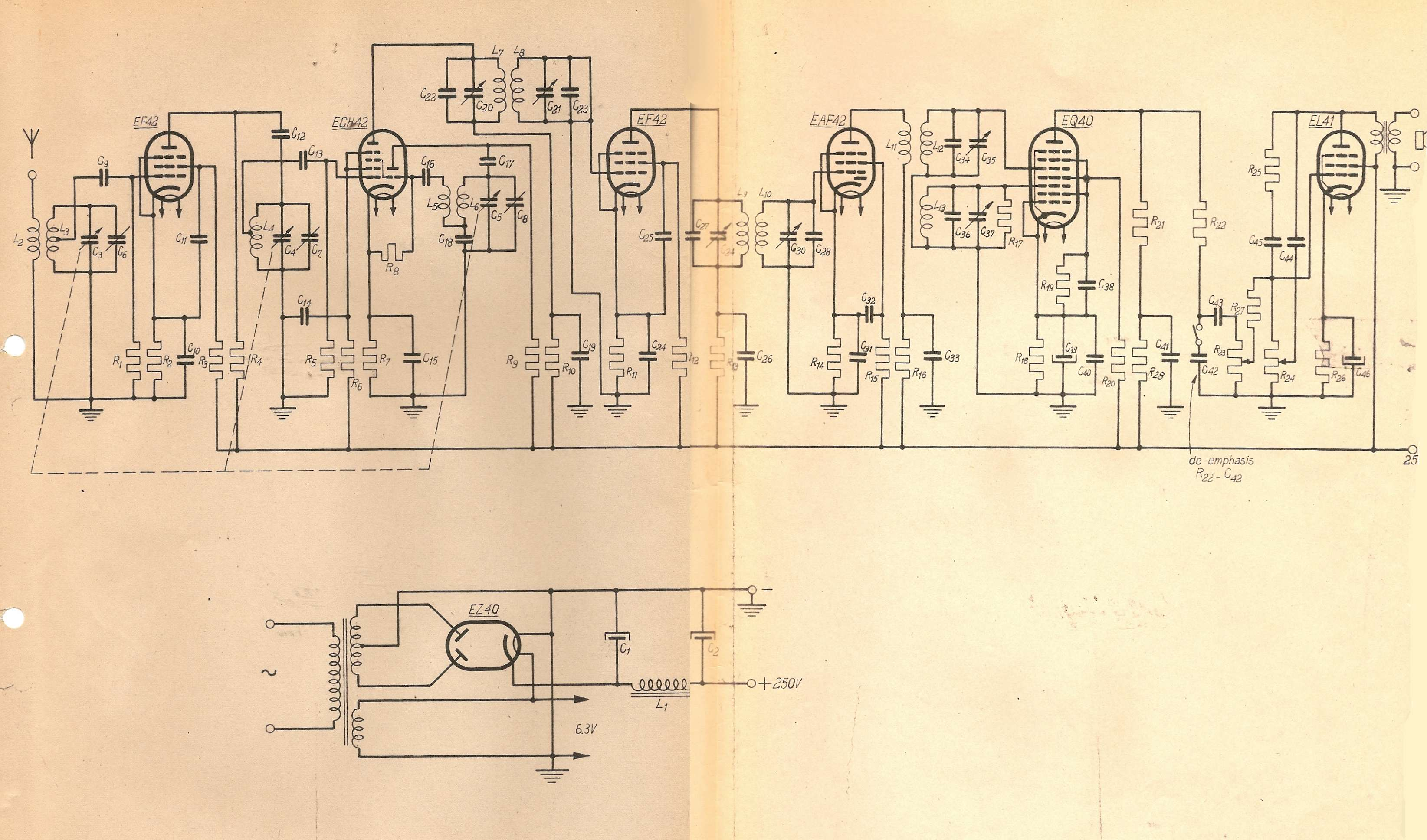 History Of The Eq40 Eq80 Enneode Frequency Detector Pt2 Fm Radio Circuit Diagram Below Is Receiver As Per Piet Hooijmans Report
