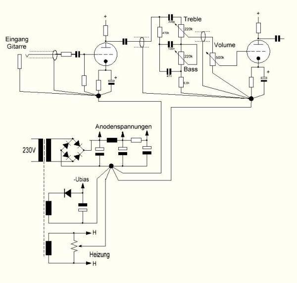 Röhren-Gitarren-Verstärker Teil 2 und 3