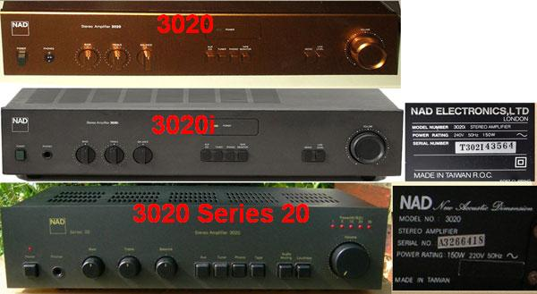 Stereo Amplifier 3020 Series 20 Ampl/Mixer NAD, New Acoustic on