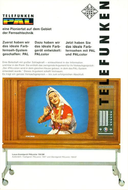 First Telefunken Palcolor PAL-Color Color TV 1967