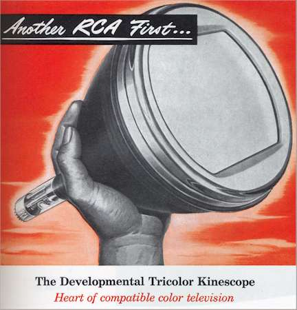 "RCA Tricolor Kinescope - round 15"" CRT for US NTSC Television!"
