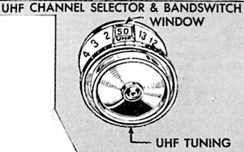 US_VHF_UHF_Combined_Channel_Selector on a early colour TV