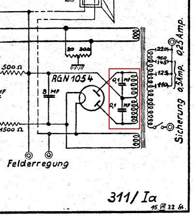 saba: 310W (310 W); Kondensator mit drei Anschlüssen