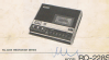 Portable Cassette Tape Recorder RQ-228 S; Panasonic, (ID = 2151459) R-Player