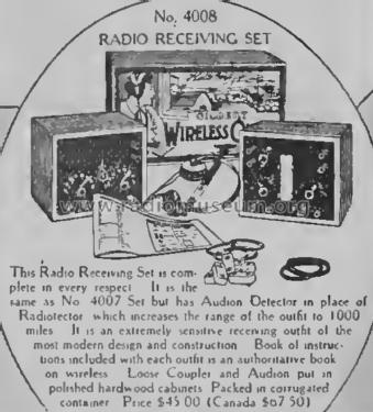Radio Receiving Set No. 4008; A-C Gilbert Co.; New (ID = 2066055) Radio