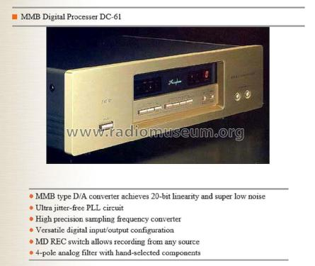 DC-61; Accuphase Laboratory (ID = 1772463) Ampl/Mixer