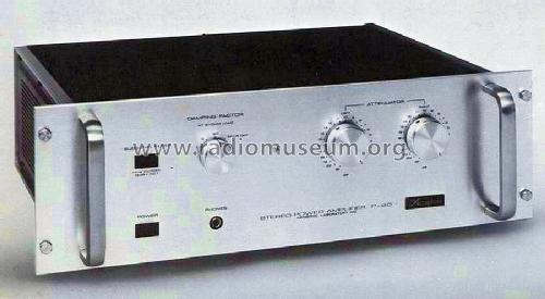 stereo power amplifier p 20 ampl mixer accuphase laboratory. Black Bedroom Furniture Sets. Home Design Ideas