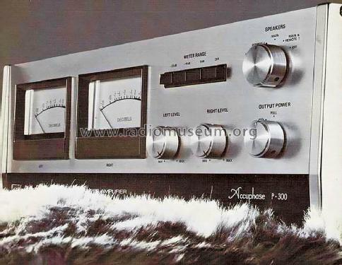 Stereo Power Amplifier P-300; Accuphase Laboratory (ID = 677132) Ampl/Mixer