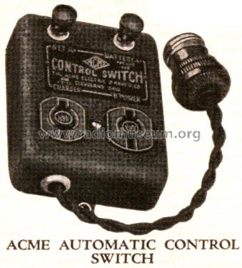 Automatic Control Switch ; Acme Elec. & Mfg. Co (ID = 1795876) Misc