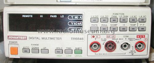 Multimeter TR-6846; Advantest (ID = 992632) Equipment