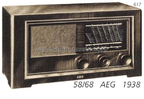 68WK Radio AEG Radios Allg.Elektricitäts-Ges., build