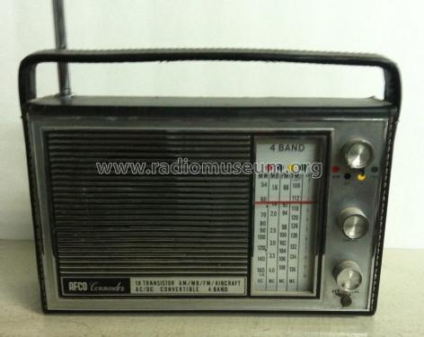 Commander 18 Transistor AM/MB/FM/Aircraft Radio Afco Electro