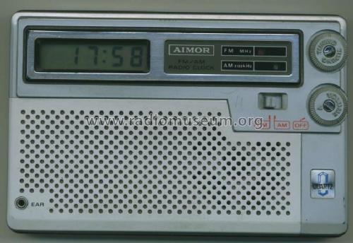 transistorradio mit uhr tcr 80fm radio aimor electric works. Black Bedroom Furniture Sets. Home Design Ideas