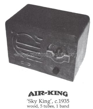 Sky King Model 1935 Radio Air King Products Co