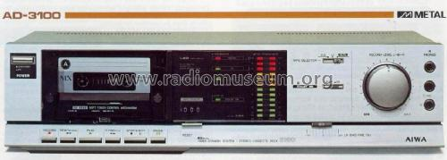 Stereo Cassette Deck AD-3100; Aiwa Co. Ltd.; Tokyo (ID = 668617) R-Player