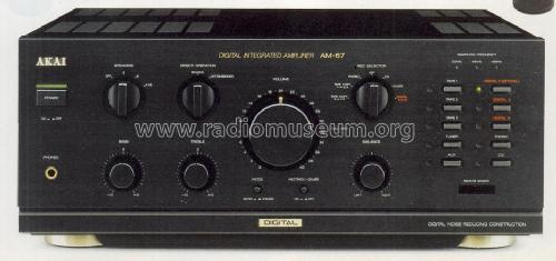 Digital Integrated Amplifier AM-67; Akai Electric Co., (ID = 1239071) Ampl/Mixer