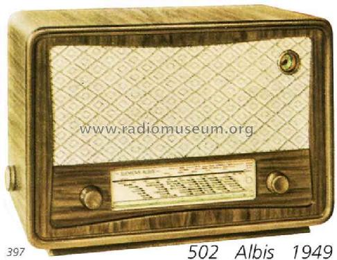 502M; Albis, Albiswerke AG (ID = 1342) Radio