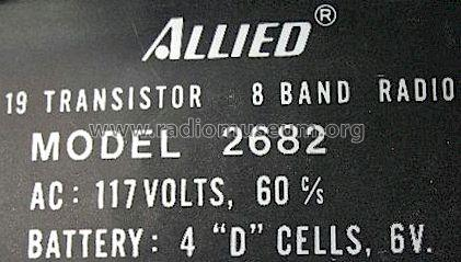 Solid State Eight Band 2682; Allied Radio Corp. (ID = 505209) Radio