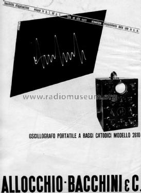 Oscillografo 2810; Allocchio Bacchini (ID = 2172670) Equipment