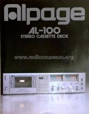 Alpage Stereo Cassette Tape Deck AL-100; Alpine Electronics, (ID = 1881223) R-Player
