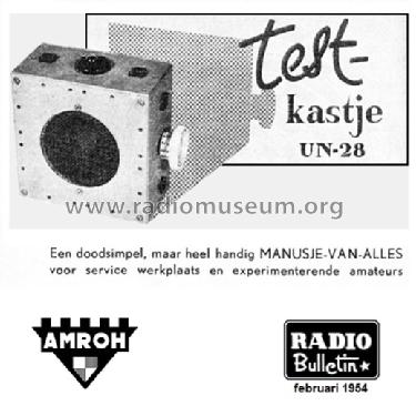 testkastje un 28 equipment amroh nv radio bulletin monthly. Black Bedroom Furniture Sets. Home Design Ideas