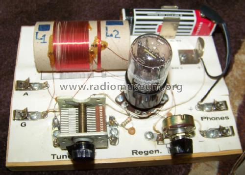 Antiqueele one tube regenerative radio kit a 201 on shortwave regenerative receiver schematic