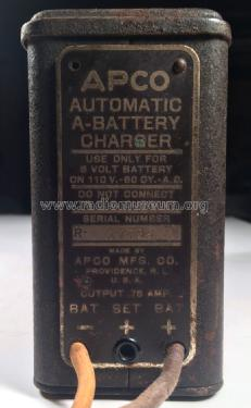 Battery Charger Automatic 'A'; Apco Manufacturing (ID = 2091298) Power-S