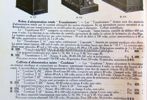 Coffret d'alimentation 'Combiné' V20C; Ariane; Paris (ID = 1851991) Power-S