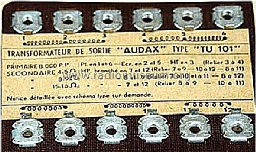AUDAX TU 101 PDF DOWNLOAD