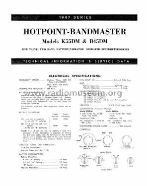 Hotpoint Band-master K55DM; Australian General (ID = 2417609) Radio