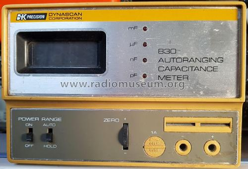 Autorange Capacitance Meter 830; B&K Precision, (ID = 2593416) Equipment